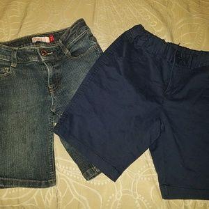 2 pairs girls size 8 shorts